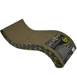 Scream S-Curve Cat Scratcher Loud Green/Black (55x23.5x12cm)