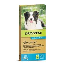 Drontal Dog 10kg 6 Tablets