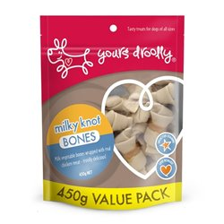 Yours Droolly Milky Veg Knot Bones with Chicken 450g