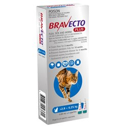 Bravecto Plus Spot-On for Medium Cats (2 Pipette Pack)