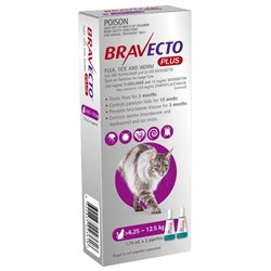 Bravecto Plus Spot-On for Large Cats (2 Pipette Pack)