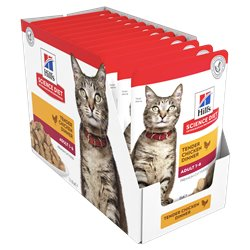 Science Diet Feline Adult Tender Chicken Pouchers Wet Food