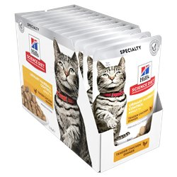 Science Diet Urinary Hairball Tender Chicken Pouches Wet Food