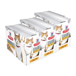 Science Diet Feline Young Adult Neutered Chicken Pouches Wet Food x 36 Pouches