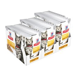 Science Diet Urinary Hairball Tender Chicken Pouches Wet Food x 36 Pouches