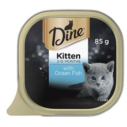 Dine Kitten with Steamed Ocean Fish 85gx14