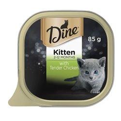 Dine Kitten With Tender Chicken 85gx14